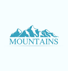 Ogo with alpen mountains vector