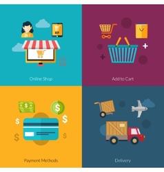 Online Shopping Set vector image