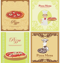 Pizza Menu Template set vector image