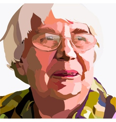 Portrait of an Old Woman vector image