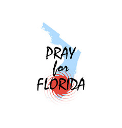 pray for florida hurricane irma natural vector image vector image