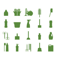 Professional maid service janitor supplies home vector