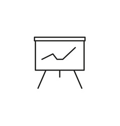 Stats presentation board icon vector