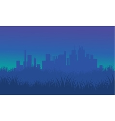 On blue backgrounds silhouette urban for fields vector