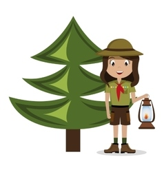 scout character isolated icon design vector image