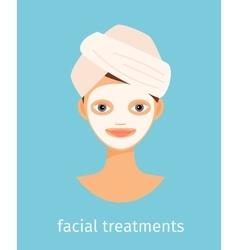 Facial treatments vector