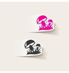 Realistic design element mushrooms vector