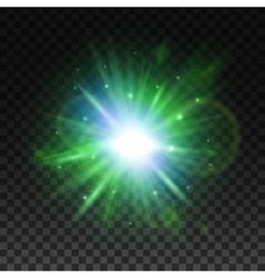Transparent green light effect for art design vector