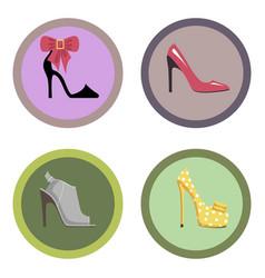 Glamorous high-heeled shoes set vector