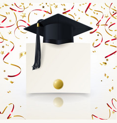 Congratulatory background on graduation vector