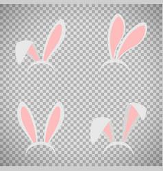 Easter bunny ears mask set vector