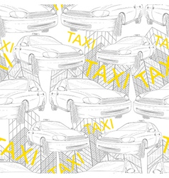 Taxi seamless pattern vector