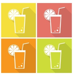 Citrus juice icons vector