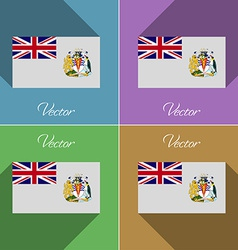 Flags british antarctic territory set of colors vector