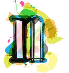 Artistic Font - Letter n vector image