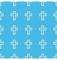 Catholic cross straight pattern vector