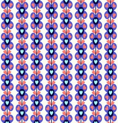 Pattern with cute flowers vector