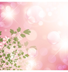 Floral bubbly background vector
