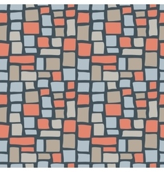 Abstract Cobble Bricks Seamless Pattern Texture vector image
