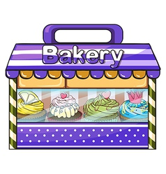 A bakery with lots of goods vector