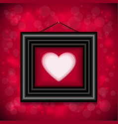 Abstract background with heart and frame vector