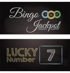 Bingo chalkboard banners vector