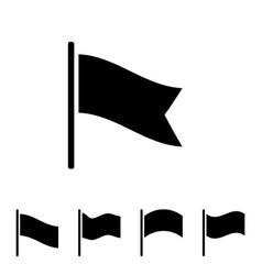 black flag icon vector image vector image