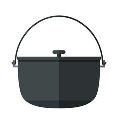 Camping pot icon vector