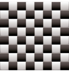 Checkered black n white vector image vector image
