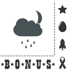 Cloud rainy month icon sign and button vector