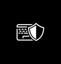 Data protection icon flat design vector