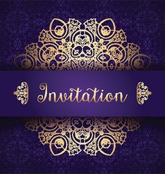 decorative invitation background 1006 vector image vector image