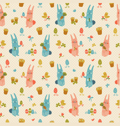 Easter seamless pattern vector