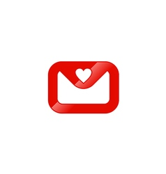 Email letter love valentine logo vector