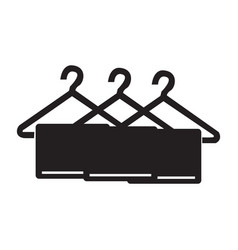 flat black towel icon vector image vector image