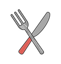 fork and knife cutlery icon image vector image vector image