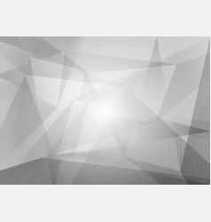 gray and white polygon and geometric abstract vector image vector image