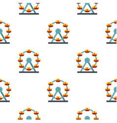 Huge ferris wheel canada pattern seamless vector