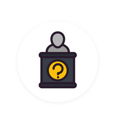 information desk icon in flat style vector image