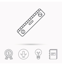 Level tool icon Horizontal measurement sign vector image vector image