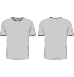Mens t-shirts template front and back views vector