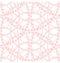 Nacreous pearl pink jewelry seamless pattern vector