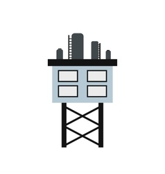 Oil platform icon vector