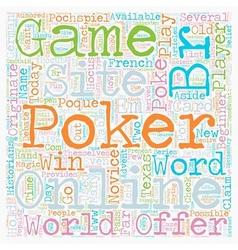 online poker site text background wordcloud vector image vector image