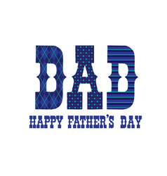 Patterned happy fathers day typography vector
