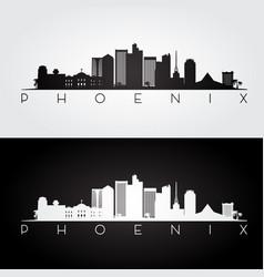 phoenix usa skyline vector image vector image