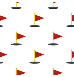 Red golf flag pattern seamless vector