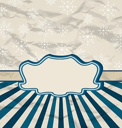 Retro vintage celebration card with snowflakes vector image vector image