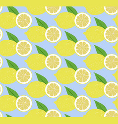 Seamless pattern fruit lemon vector
