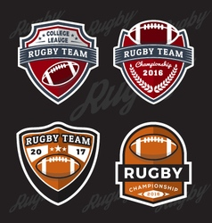 Set of rugby and football logo template vector
